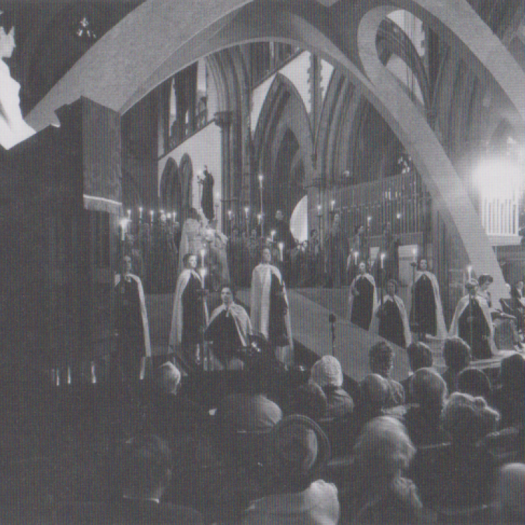 The first performance of St Teilo (Mathias) at Llandaff Cathedral on Friday 14th June 1963.